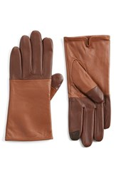 Women's Echo 'Touch Colorblock' Leather Gloves Saddle