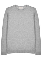 John Smedley Crowford Grey Wool Blend Jumper Silver