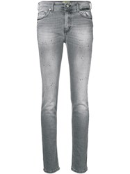 Versace Jeans Faded Skinny Jeans Grey