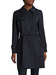 Cinzia Rocca Solid Belted Trench Coat Camel