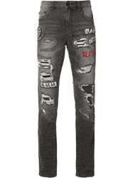 Haculla Patches Ripped Jeans Black