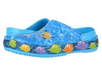 Crocs Crocband Lights Fish Clog Electric Blue Clog Mule Shoes