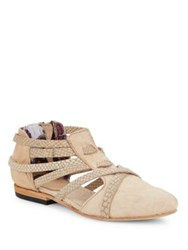 Freebird Emory Leather Booties Natural