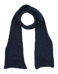 Inis Meain Oblong Scarves Dark Blue