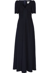 Goat Rosa Wool Crepe Gown Blue