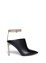 Vince 'Armon' Ankle Strap Leather Booties Black