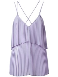 Elie Saab Pleated Detail Top Pink Purple