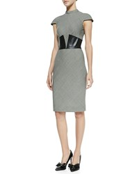 L'agence Suit Dress With Leather Corset Women's