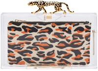 Charlotte Olympia Clear Savage Pandora Clutch