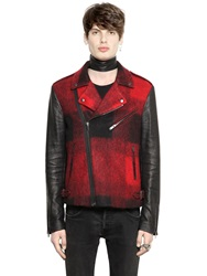 All Apologies Plaid Wool Blend And Coated Canvas Jacket Red Black