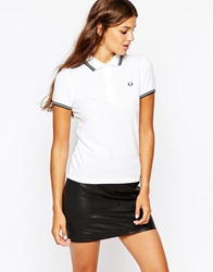 Fred Perry Twin Tip Polo Shirt White