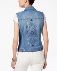 Style And Co Embroidered Denim Vest Only At Macy's Calabasas