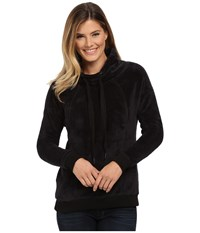 Mod O Doc Slouchy Funnel Neck Pullover Black Women's Sweatshirt