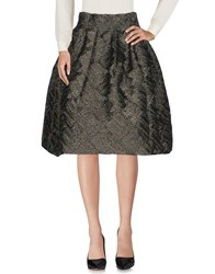 Io Couture 3 4 Length Skirts Black