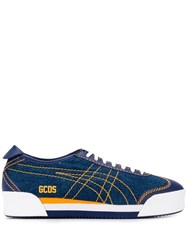 Gcds Stitching Detail Sneakers Blue