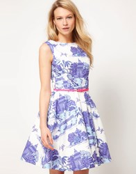 Oasis Scenic Full Skirted Dress Multi
