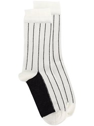 Haider Ackermann Beryl Stripe Socks White