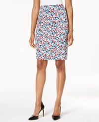 Nine West Floral Print Pencil Skirt Candy Multi