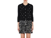 Marc Jacobs Women's Embellished Wool Cashmere Cardigan Black