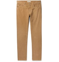 Belstaff Longton Slim Fit Cotton Corduroy Trousers Brown