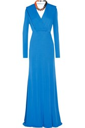 Emilio Pucci Draped Stretch Jersey Gown Azure