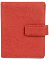 Kenneth Cole Reaction Deluxe Passport Wallet With Rfid Coral Reef