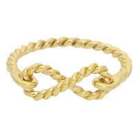 London Road Ro138 9Ct Gold Twisted Rope Infinity Ring Gold