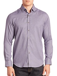 Robert Graham Robbie Casual Button Down Shirt Purple