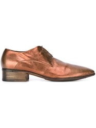 Marsell Marsa Ll Metallic Lace Up Shoes