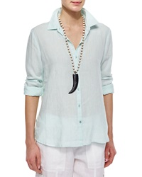 Eileen Fisher Long Sleeve Button Front Linen Shirt