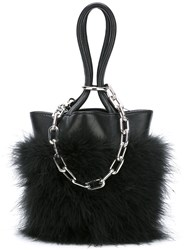 Alexander Wang Feather Trim Chain Tote Black