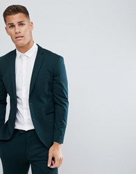 Jack And Jones Premium Suit Jacket In Slim Fit Stretch Green