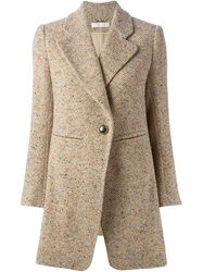 Chloe Chloe Tweed Effect Blazer Nude And Neutrals