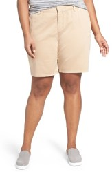 Sejour Plus Size Women's Bermuda Shorts Tan Sesame