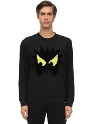 Mcq By Alexander Mcqueen Monster Printed Cotton Sweatshirt Black