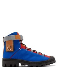 Eye Loewe Nature Logo Patch Canvas Hiking Boots Blue