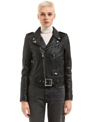 Schott Perfecto Leather Biker Jacket Black