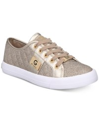G By Guess Backer Lace Up Sneakers Women's Shoes Gold