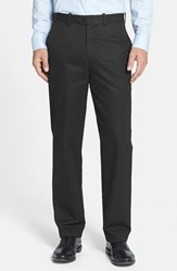 Men's Big And Tall John W. Nordstrom Smartcare Flat Front Supima Cotton Pants Black