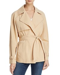 Frame Cropped Trench Coat Sand
