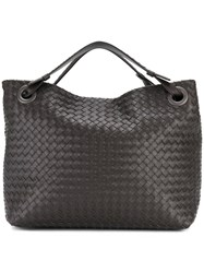Bottega Veneta Garda Intrecciato Bag Leather Brown