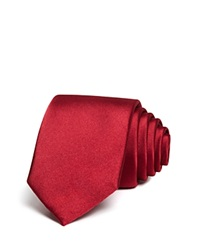 The Men's Store At Bloomingdale's Solid Satin Skinny Tie Red