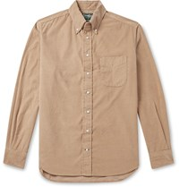 Gitman Brothers Vintage Button Down Collar Cotton Corduroy Shirt Neutrals