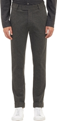 Atm Anthony Thomas Melillo Compact Knit Jersey Cuffed Trousers Charcoal