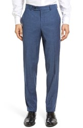 Ted Baker Men's London Jerome Flat Front Solid Wool And Cotton Trousers