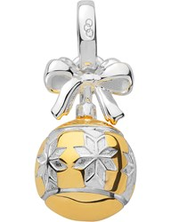 Links Of London Sterling Silver And 18Ct Gold Vermeil Star Bauble Charm Yellow Gold