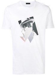 Diesel Black Gold T Shirt With Print And Patchwork White