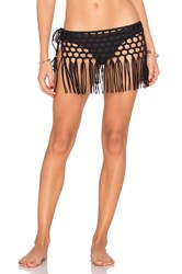 Pilyq Macrame Skirt Black