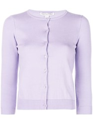 Autumn Cashmere Button Fitted Cardigan Purple