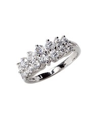 Lord And Taylor Sterling Silver Cubic Zirconia Marquise Ring